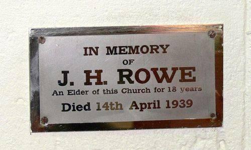 J. H. Rowe : 14-May-2013