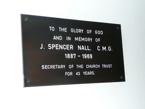 J Spencer Nall Plaque : November 2013