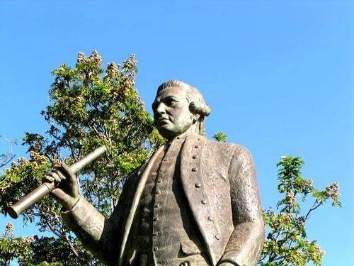 James Cook Statue  Detail