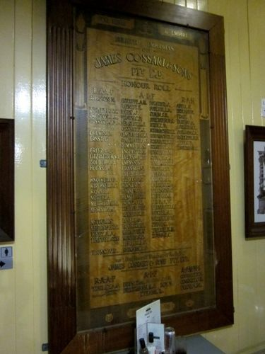 James Cossart & Sons Honour Roll : 26-05-2012