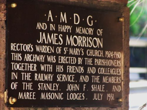 James Morrison Plaque
