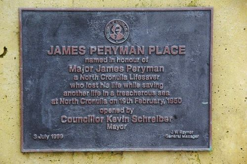 James Peryman Plaque