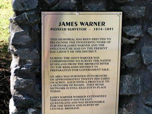 James Warner History Plaque