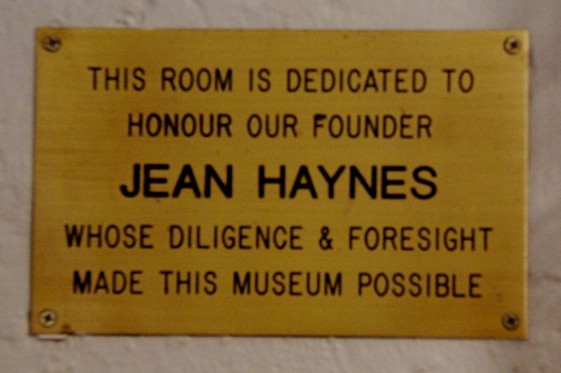 Haynes Plaque : 03-August-2015