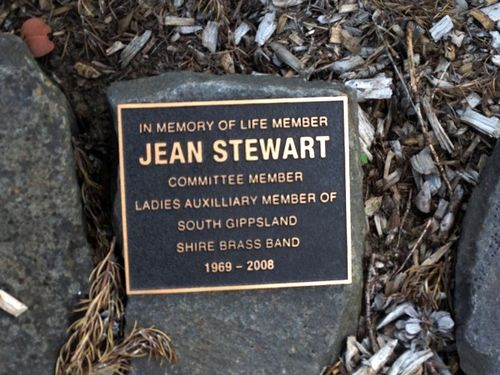 Jean Stewart Plaque : 3-04-2014