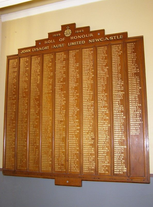 John Lysaght Honour Roll : 17-July-2014