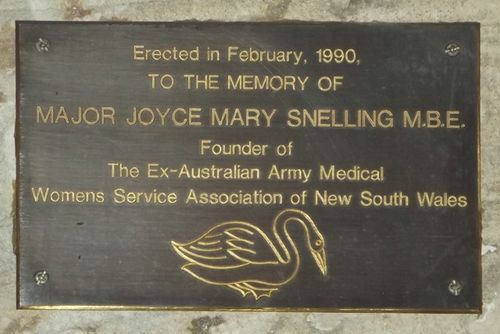 Joyce Snelling Plaque : March 2014