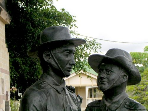 Kallangur Memorial Gate Sculpture Closeup