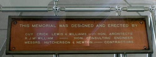 Kingsford Smith Designers Plaque