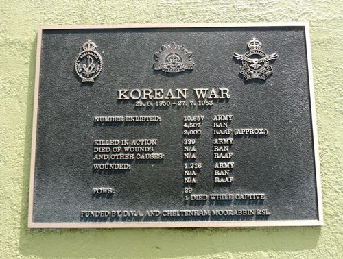 Korean War Plaque : 28-September-2012