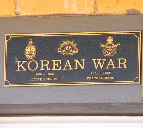 Korean War Plaque : 30-December-2012