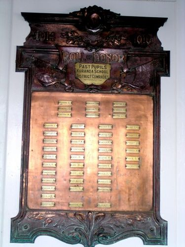 Kuranda Honour Board WW1