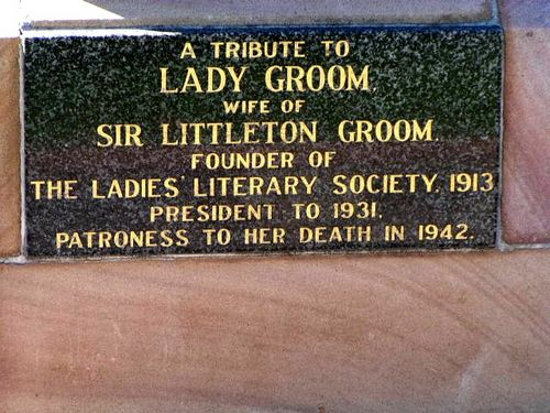 Lady Groom Plaque