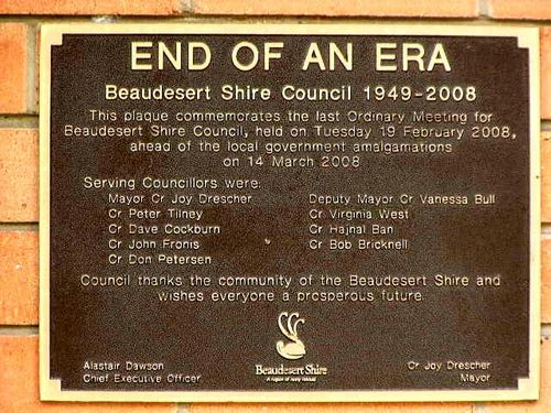 Last Council Meeting Plaque