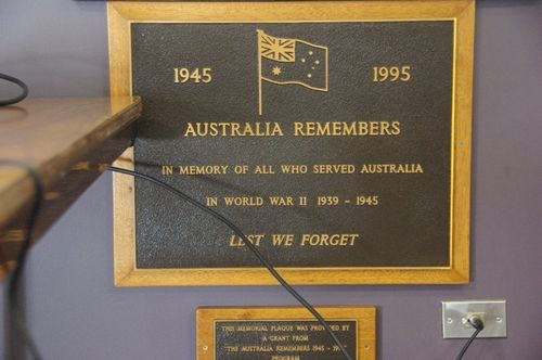 Australia Remembers Plaque : June 2014
