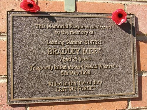 Bradley Meek Plaque : 16-June -2014