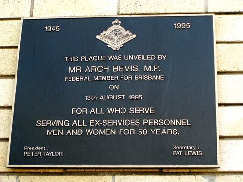 Legion Memorial Club Plaque