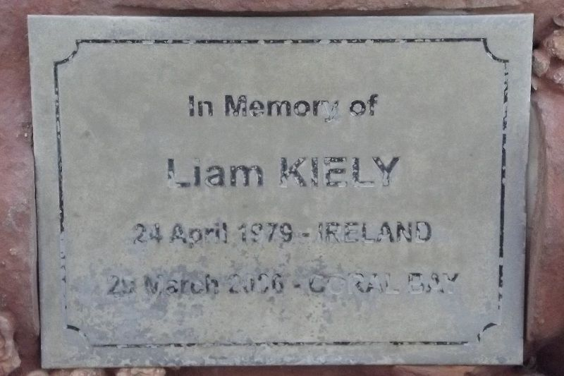 Kiely Plaque: 10-August-2015