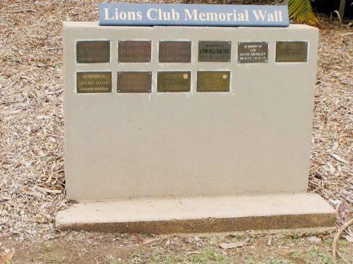 Lions Club Memorial Wall