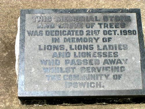 Lions Memorial Grove Inscription