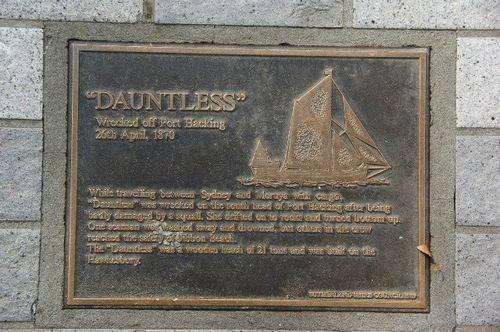 Lost Trading Vessel Dauntless Plaque