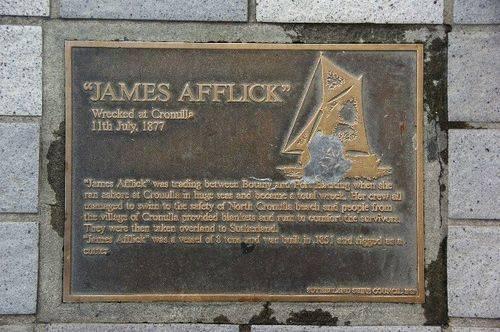 Lost Trading Vessel James Afflick Plaque