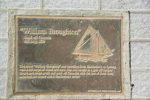 Lost Trading Vessel William Broughton Plaque