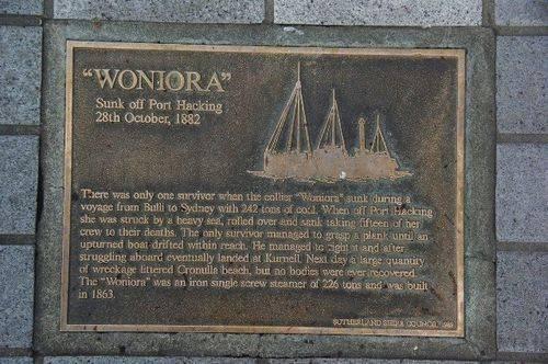 Lost Trading Vessel Woniora Plaque