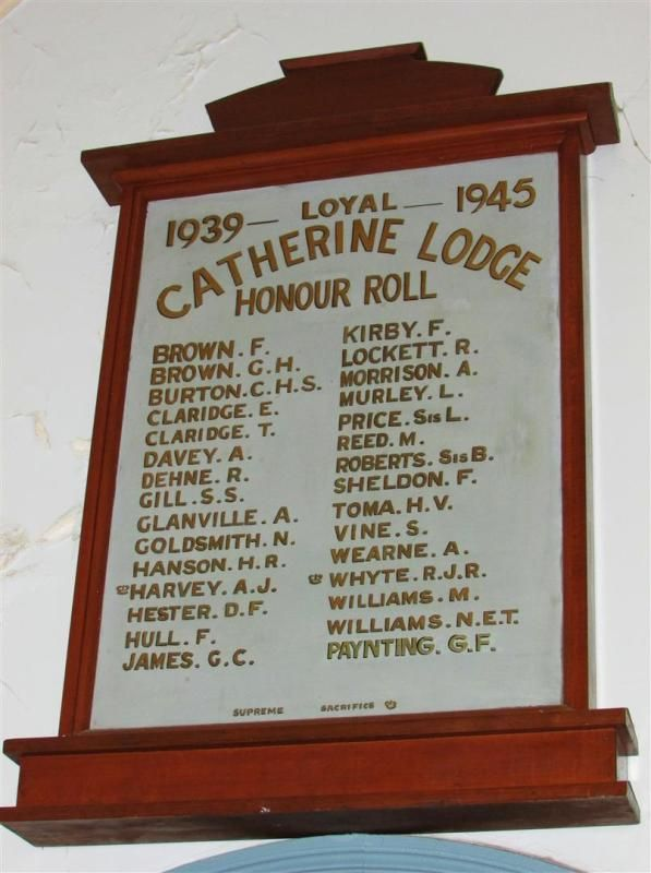 Loyal Catherine Lodge Honour Roll