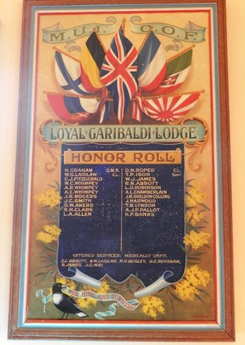 M.U.I.O.O.F Loyal Garibaldi Lodge Honour Roll : 22-March-2013