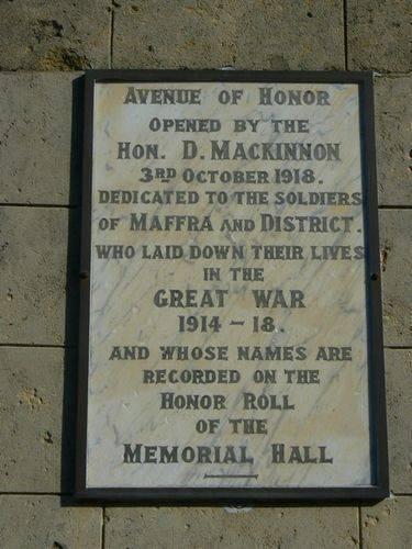 Maffra Avenue of Honour