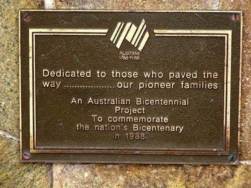 Malanda Pioneers Plaque