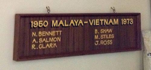 Malaya-Vietnam Honour Roll : November 2013