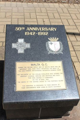 Malta George Cross 50th Anniversary Memorial : 12-December-2012