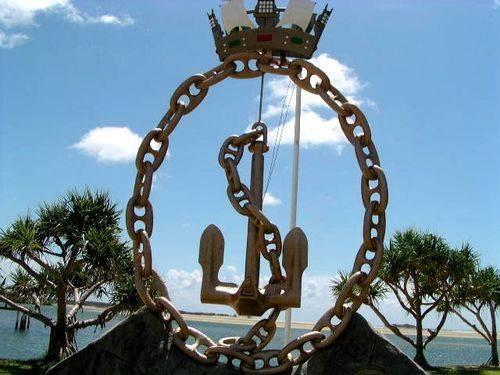 Maroochydore Naval Memorial Closeup