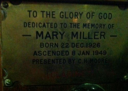 Mary Miller : 12-July-2012