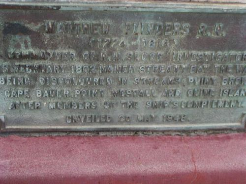 Matthew Flinders Plaque