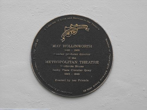 May Hollinworth Plaque
