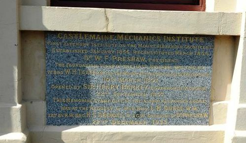 Mechanics Institute Memorial Stone : 09-June-2013