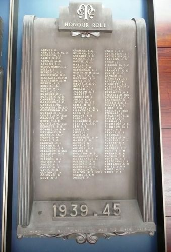 Melbourne Cricket Club World War Two Honour Roll : 27-June-2012