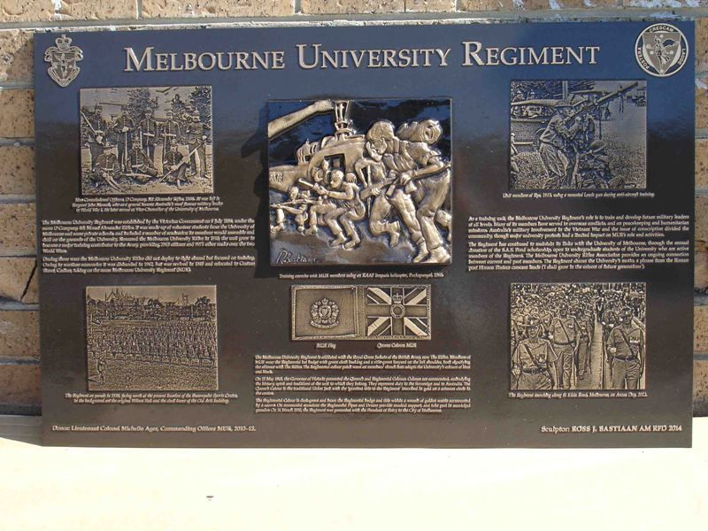 Regiment Commemorative Plaque : 16-April-2014