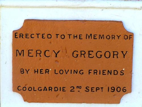 Mercy Gregory Inscription