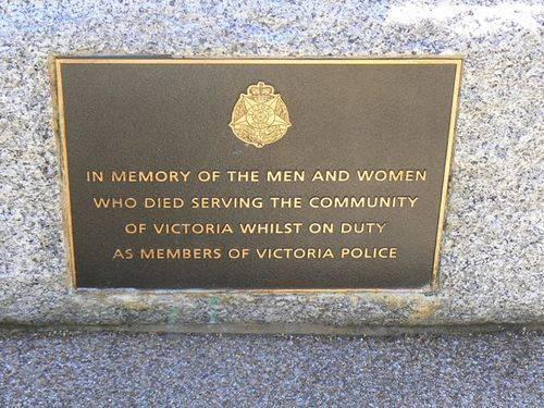 Moe Police Memorial