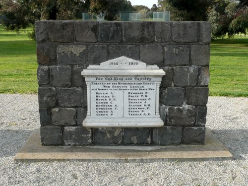 Moorabbin and Highett War Service League Honour Roll : 19-September-2012