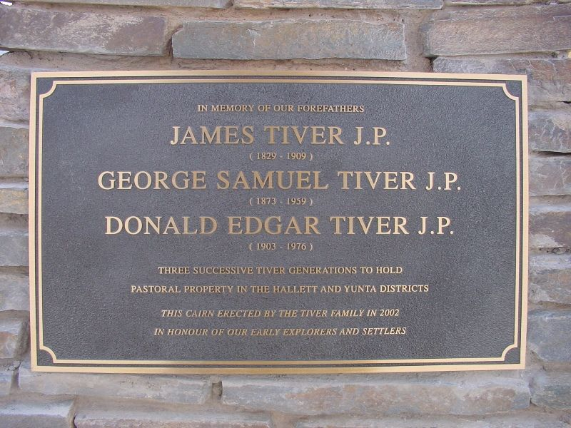 Tiver Family Plaque : 12-October-2002