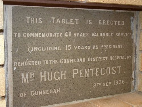 Hugh Pentecost Plaque : 16-August-2014