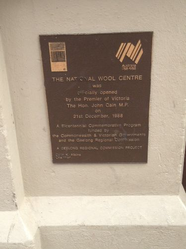 Wool Museum Plaque : March 2014