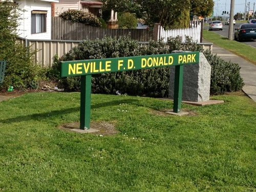 Neville F.D. Donald Park : October 2013