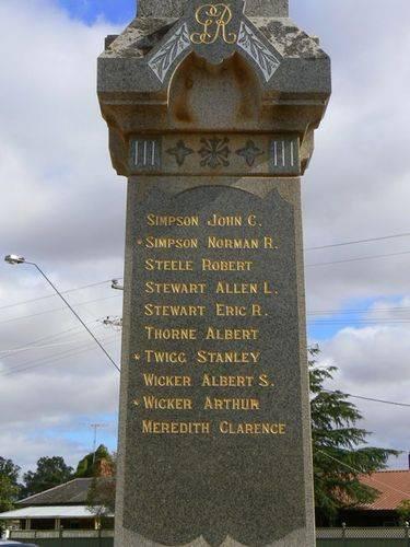 Newbridge War Memorial   Right Side