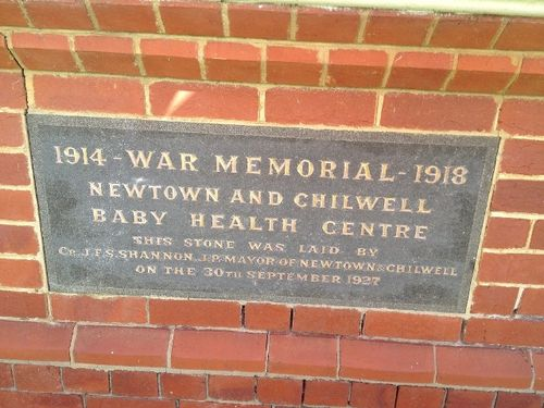 Newtown & Chilwell Health Centre Inscription Plaque :10-09-2013